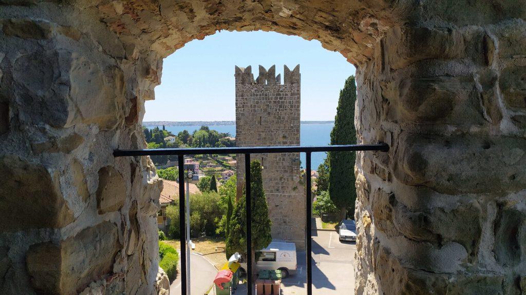 Piran city walls